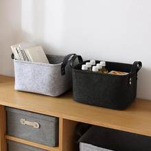 Home Wool Felt Storage Baskets Toy Book Foldable Laundry Basket Dirty Clothes Hamper Toys Holder Clothes Storage Bag(China)