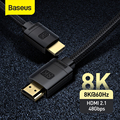 Baseus HDMI-Compatible Cable for Xiaomi Mi Box 48Gbps Digital for PS5 PS4 8K 2.1 4K 2.0 HDMI-Compatible Splitter 8K/60Hz Cables