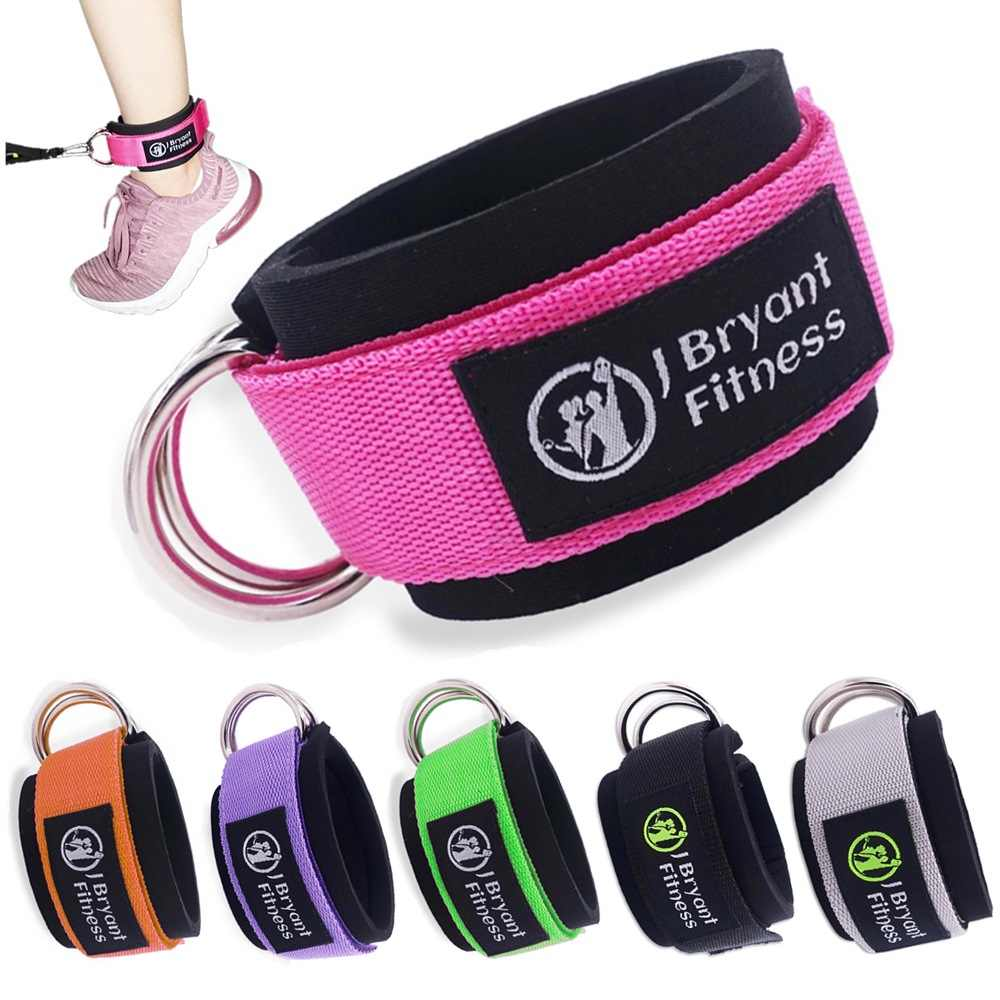 Ankle Straps for Cable Machines Double D-Ring Ankle Cuffs Gym Workouts Fitness