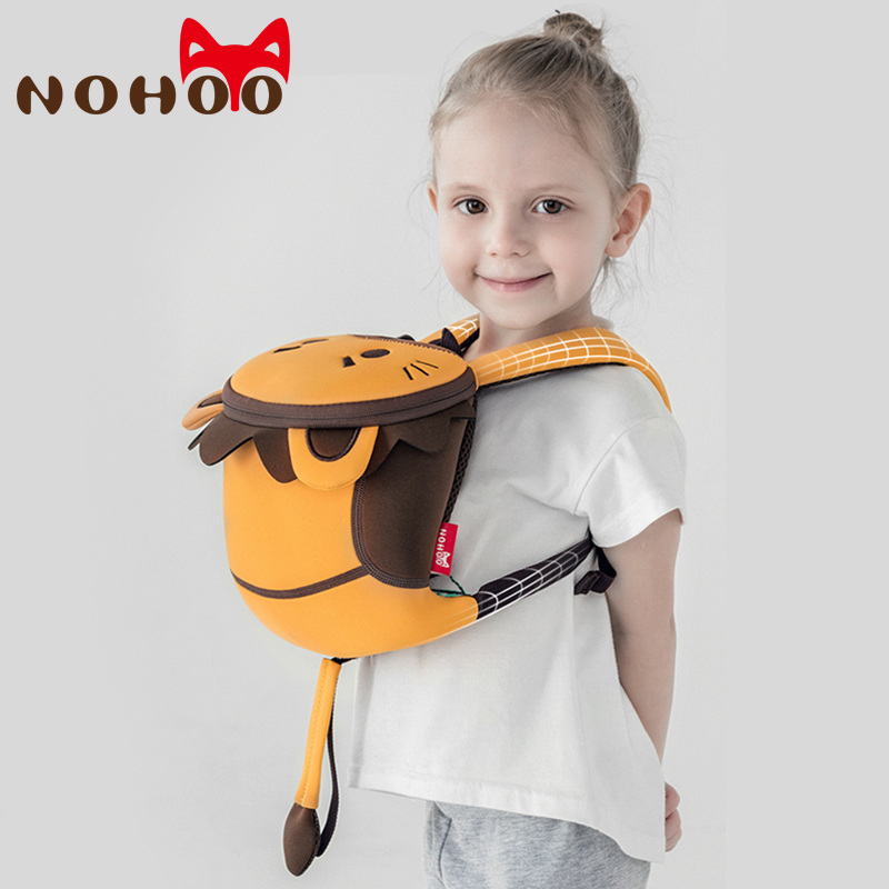 NOHOO Kids Toddler Backpacks With Safety Leash 3D Cartoon Animal Children School Bags Anti-lost Toddler Backpack For Boys Girls
