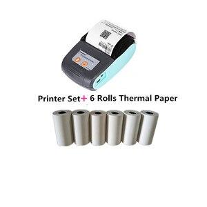 Image 5 - GOOJPRT Mini 58mm Impresora Termica kieszeń bezprzewodowa Bill Bluetooth drukarka przenośna termiczna drukarka paragonów telefon komórkowy Android