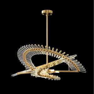 Image 2 - الحديثة الفاخرة كريستال الثريا مطعم فيلا مستديرة دوبلكس بناء LED مصباح مصمم معرض مصباح لغرفة المعيشة