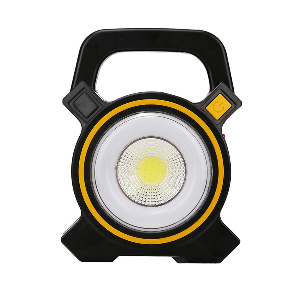 Handheld lâmpada do gramado solar usb recarregável 10 w cob led lanterna 2 modos lâmpada de inspeção de trabalho de emergência solar