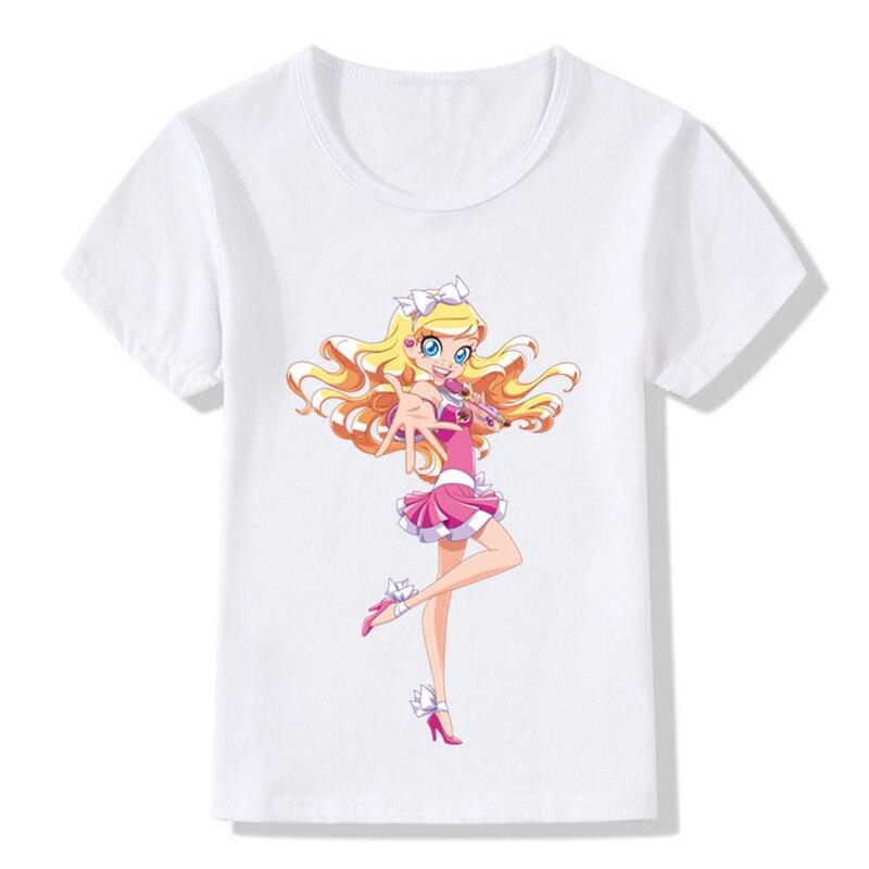 Children LoliRock Magical Girl Funny T-shirt Boys Girls Anime Great Tops T shirt Kids Clothes 9