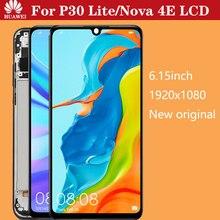 % 6.15 orijinal LCD değiştirme için HUAWEI P30 Lite LCD ekran ekran için HUAWEI P30 Lite ekran çerçevesi Nova 4e MAR-LX1 LX2 AL01