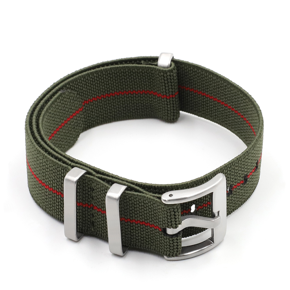Trendy Brand Watchstrap Nylon French Troops Parachute Bag Nato Elastic Belt Watchband 18mm 20mm 22mm Military Wristwatch
