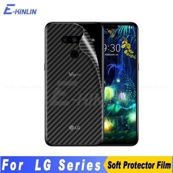 Перейти на Алиэкспресс и купить Защитная пленка для экрана из углеродного волокна для LG V50 5G G8X G8 G7 V50S ThinQ G6 V40 V30S V30 Plus, не закаленное стекло