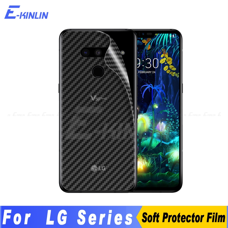 Carbon Fiber Back Cover Screen Protector For LG V50 5G G8X G8 G7 V50S Thinq G6 V40 V30S V30 Plus Sticker Film Not Tempered Glass