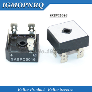 Image 1 - 10 قطعة SKBPC5016 kbpc5016 50A 1600V C5016 ثلاث مراحل جسر المعدل DIP النحاس القدم البلاستيك الإسكان جديد