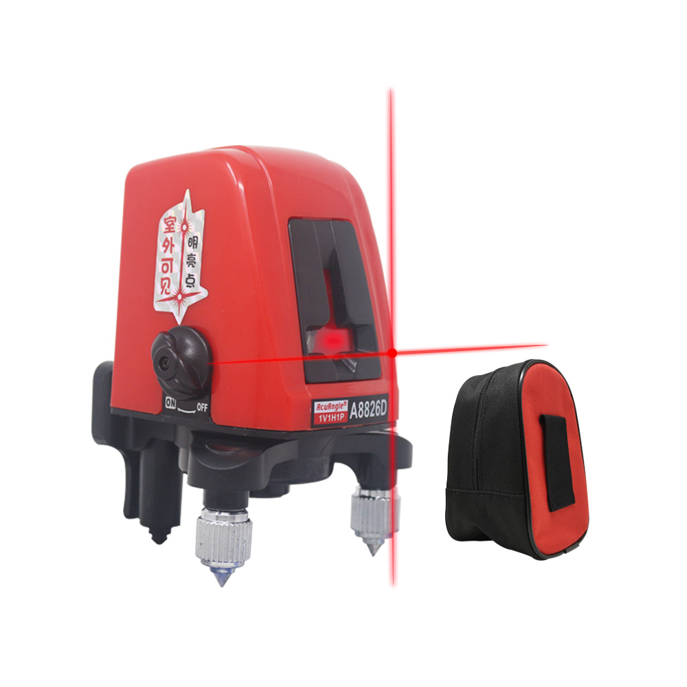A8826D Laser Level 360 Degree Rotation 2 Red Lines 1 Point Self- Leveling Vertical Horizontal Cross Laser Levels Tripod