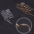 100 шт./лот 925 KC Позолоченные/Серебристые медные серьги-крючки, гипоаллергенные женские полупроводные ушные крючки, сделай сам, изготовление ...