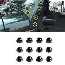 A pillar Bolts Protection Cover for Jeep Wrangler JK 2007 2017 Plus BJ40L Car External Accessories ABS Black Decoration Stickers