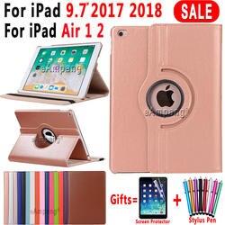 360 градусов вращающийся кожаный чехол для Apple iPad Air 1 Air 2 5 6 Новый iPad 9,7 2017 2018 5th 6th поколения Coque Funda