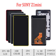 цены Original For SONY Xperia Z1 Compact LCD Display Touch Screen Digitizer Assembly For Sony Z1 Mini Display with Frame D5503 M51W