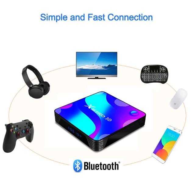 LEMFO X88 Pro 10 Smart TV Box Android 10.0 4GB 64GB 128GB Rockchip RK3318 Support 4K Youtube Google Play 5