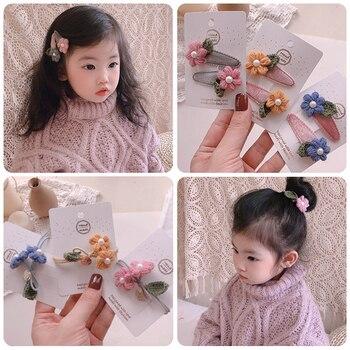 Childrens hairpin hair clips New Handmade Flower in winter 2020 South Korea girls accessories