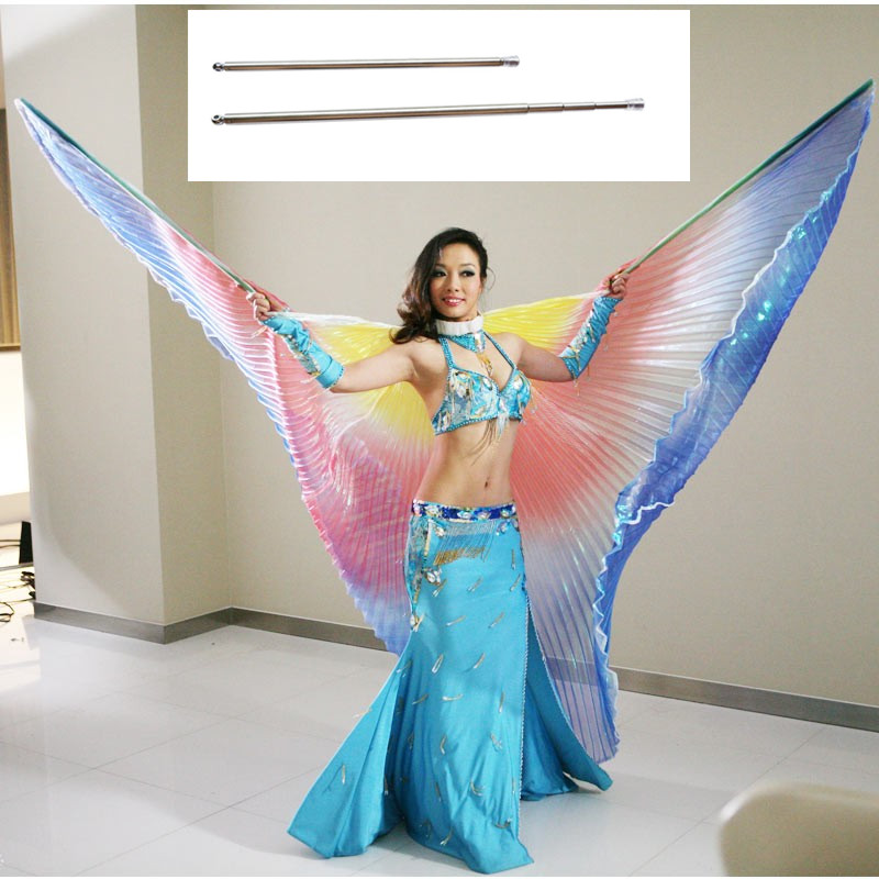 Multicolor Angle Wings Women Belly Dance Costume Isis Colorful Wings Kids Belly Dance Accessory Wings Children Adult With Sticks