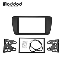 Doble Din PVC para asiento Ibiza 2008 + Audio Fascia Radio CD DVD GPS estéreo CD Panel Dash Instalación en Trim Kit marco