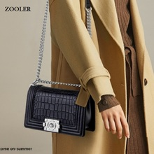 купить ZOOLER 2019 famous brand luxury handbags women bags designer genuine leather crossbody shoulder women's bag bolsa feminina MD208 по цене 3336.02 рублей