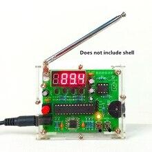 Zestaw DIY cyfrowy w kształcie tuby wyświetlacz FM Radio cyfrowe elektroniczny Diy zestaw do produkcji części produkt elektroniczny spawanie montaż