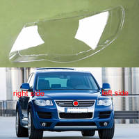 For Volkswagen Touareg 2007 2008 2009 2010 Transparent Lampshade Lamp Shade Front Headlight Shell Lampshade Lens Headlamp Cover