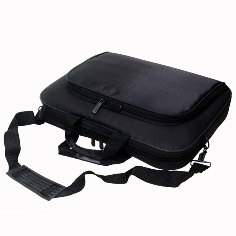 Briefcase Bag 15.6 Inch Laptop Messenger Bag Black Business Office Bag Computer Handbags Simple Shoulder Bag for Men Women 2