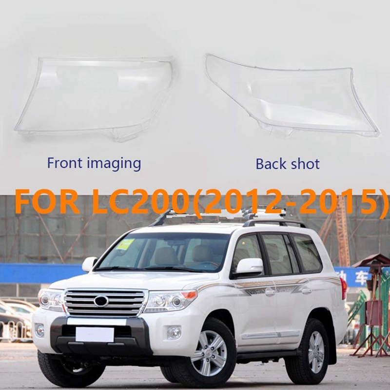 Car Front Headlight Glass Lamp Cover,Protective Cover For Toyota Land Cruiser LC200 Land Cruiser 200 12-15