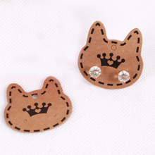 50pcs/lot 3.7*3.7cm Jewelry Display Cards Cute Cat Shape Packaging Cards Earrings Necklace Price Tags Cards Display Hang Cards
