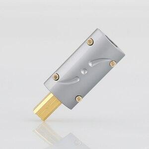 Image 1 - Виборг UB201, высококлассный позолоченный USB 2.0 24K штекер USB B, DIY HI Fi USB кабель, позолоченный бронзовый USB кабель