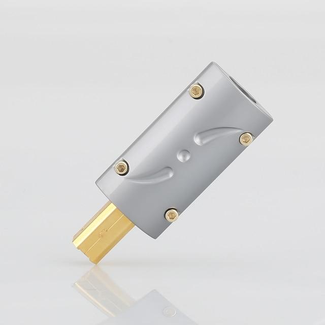 Виборг UB201, высококлассный позолоченный USB 2.0 24K штекер USB B, DIY HI Fi USB кабель, позолоченный бронзовый USB кабель