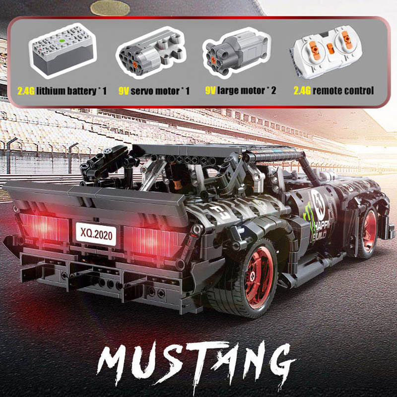 compativel lepining tecnica rc ford mustang hoonicorn 01