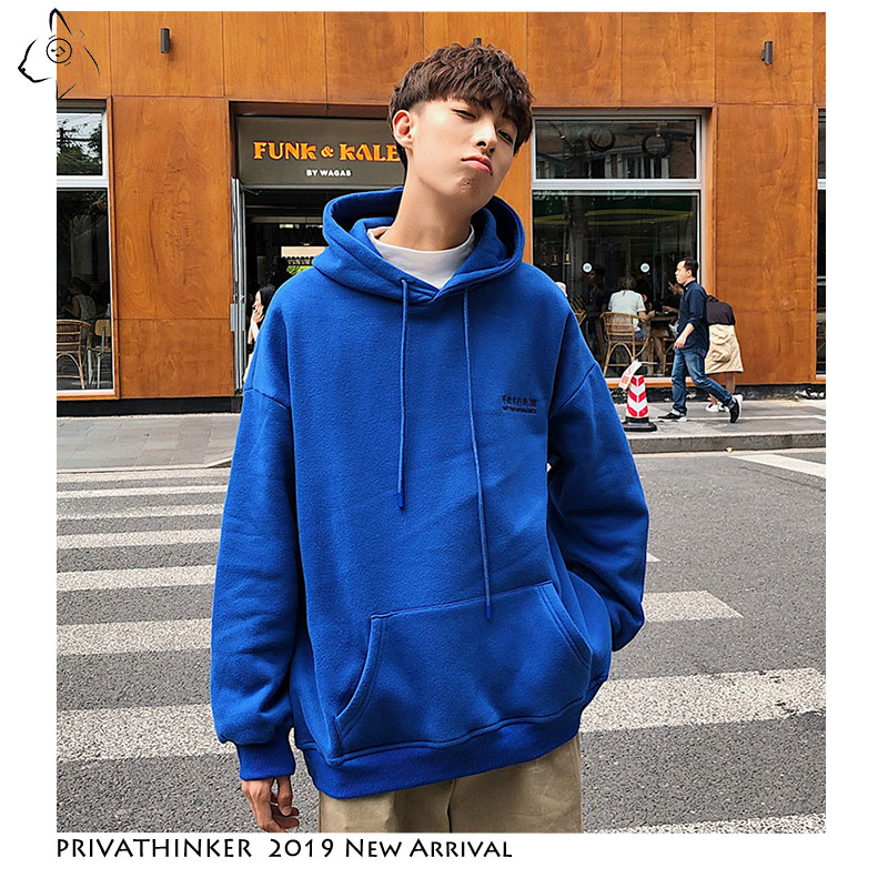 Privathinker Men Woman Autumn Colorful Streetwear Sweatshirts 2019 Mens Print Casual Hoodies Male Hat Cotton Korean Sweatshirts
