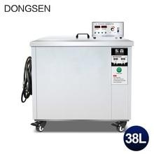 Industriële Ultrasone Reiniger 38L Bad Moederbord Auto Onderdelen Olie Roest Ontvetten Printplaat Dpf Ultrasone Reiniging Machine