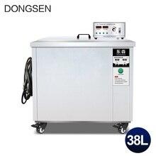 Przemysłowa maszyna do czyszczenia ultradźwiękowego 38L wanna płyta główna części samochodowe olej odtłuszczanie rdzy płytka DPF ultradźwiękowa maszyna czyszcząca