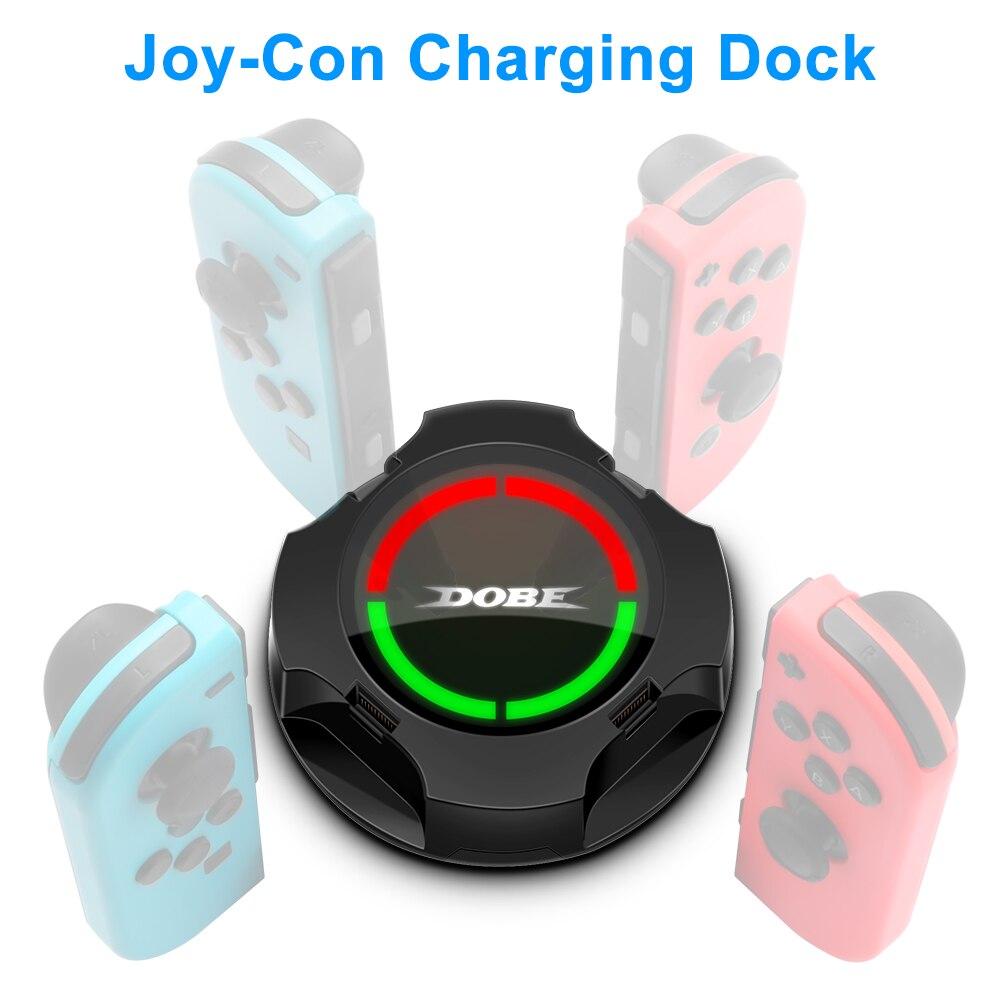 Rocketek 4 в 1 зарядная док-станция для контроллсветодиодный Nintendo Switch Joy-con, светодиодное зарядное устройство Type-C для переключателя Pro, зарядная п...