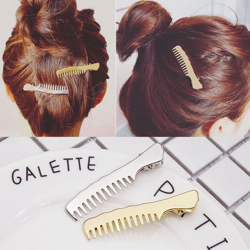 Fashion Women Girl Slip Comb Hairpin Korean Jewelry Metal Duckbill Clip Small Clips Hairpin Hair Clip Headwear Hair Accessories