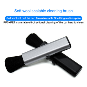 Image 3 - QHCP Car Conditioning Air Outlet Cleaning Plastic Small Dust Removal Artifact Soft Brush Retractable Interior For All Cars