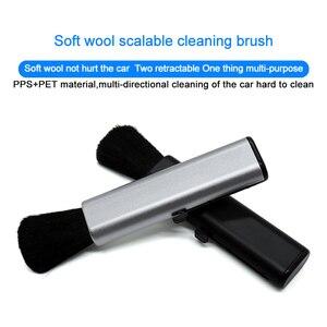 Image 3 - QHCP רכב מיזוג אוויר לשקע ניקוי פלסטיק קטן אבק הסרת חפץ רך מברשת נשלף פנים עבור כל מכוניות