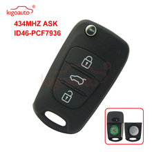 цена на Kigoauto Flip key 434Mhz 3 button for Hyundai i20 i30 car Key Replacement remote key