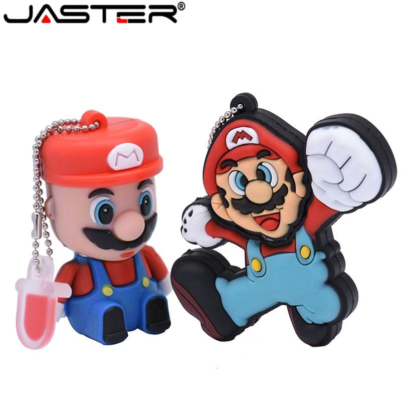 JASTER Cartoon Super Mary Model Usb Flash Drive Usb 2.0 4GB 8GB 16GB 32GB 64GB Pendrive Gift Usb Stick