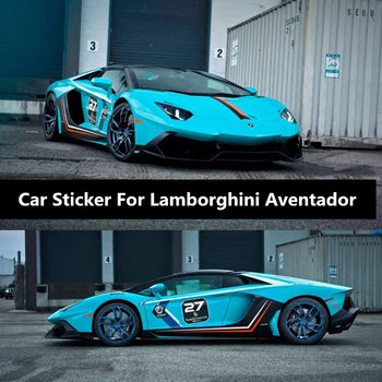 Racing Stickers Modified Decorative Door Stickers on Both Sides of Body For Lamborghini Aventador