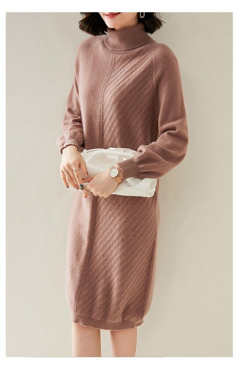 malha pullovers vestidos de alta qualidade quente