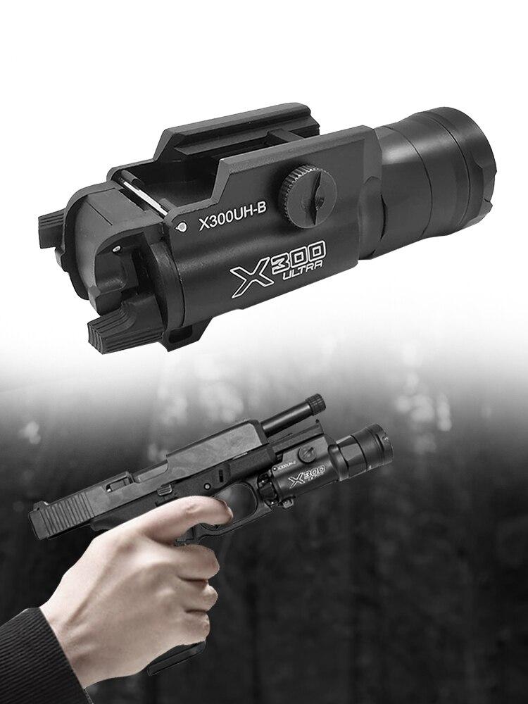 Arma tática luz X300UH-B x300u x300 lanterna