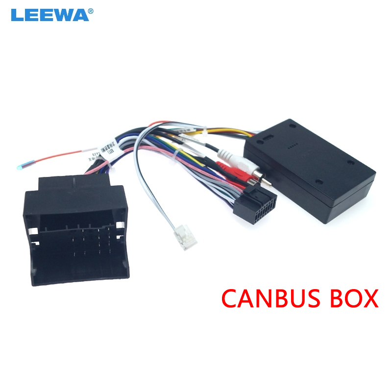 LEEWA Car Audio DVD 16PIN Android Power Cable Adapter With Canbus Box For Benz A/B/C/D/E/ML Power Wiring Harness  #CA3324
