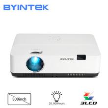 BYINTEK K400 3LCD 300 cala wysokiej jasności Full HD 1080P 4K rzutnik do kina edukacja spotkanie reklamować tanie tanio Korekcja ręczna CN (pochodzenie) Projektor cyfrowy 4 3 16 9 290W x 1 2 3300 ANSI lumens Projektor 3lcd Brak 1024x768 dpi