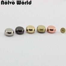 50pcs 8 colors 13mm solid cast stud DIY bag bottom rivets in screws,bags handbags purse feet studs