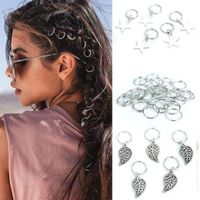 Dreadlock Beads Accessories Braiding-Ring-Styling-Tools for Hair-Rings Gold-Silver-Color