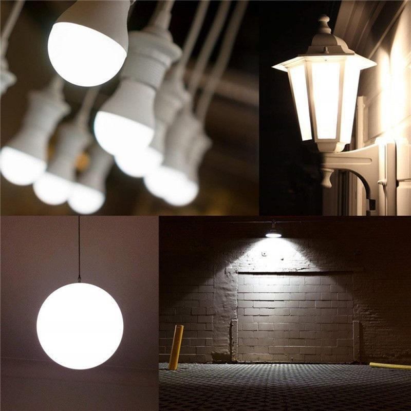 1Pcs E27 Weiß Smart Sensor Led-lampe Lampe Auto Empfindliche Lichter PIR Motion Sensor Lampe