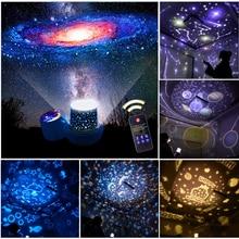 СВЕТОДИОДНОЕ Звездное Небо Лампа Проектора Звездный Свет USB Аккумуляторная Космос Галактика Красочные Вращение Проекция Детский Подарок Пульт Дистанционного Управления