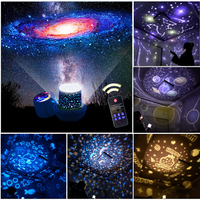 LED Starry Sky Projector Lamp Star Light USB Rechargeable Cosmos Galaxy Colorful Rotation Projection Kids Gift Remote Control